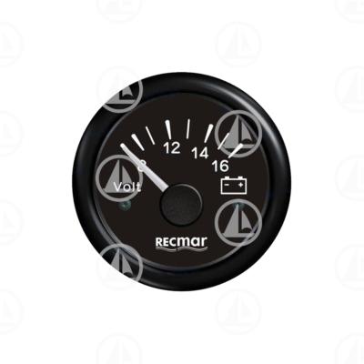 Voltmetro Recmar per cruscotto barca RECKY13200 (nero)