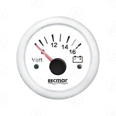 Voltmetro Recmar per cruscotto barca RECKY13304 (bianco)