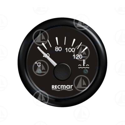 Indicatore temperatura acqua Recmar per cruscotto barca RECKY14200 (nero)
