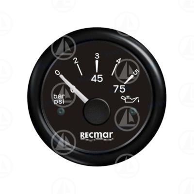 Indicatore pressione olio Recmar per cruscotto barca RECKY15201 (nero)
