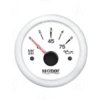 Indicatore pressione olio Recmar per cruscotto barca RECKY15300 (bianco)