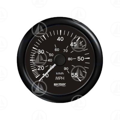 Tachimetro Recmar per cruscotto barca 0-55 mph RECKY18203 (nero)
