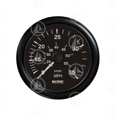 Tachimetro Recmar per cruscotto barca 0-35 mph RECKY18204 (nero)