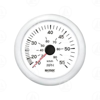 Tachimetro Recmar per cruscotto barca 0-55 mph RECKY18303 (bianco)