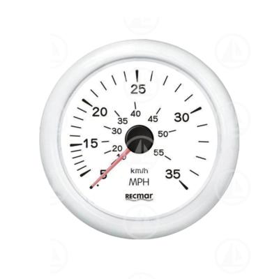 Tachimetro Recmar per cruscotto barca 0-35 mph RECKY18304 (bianco)